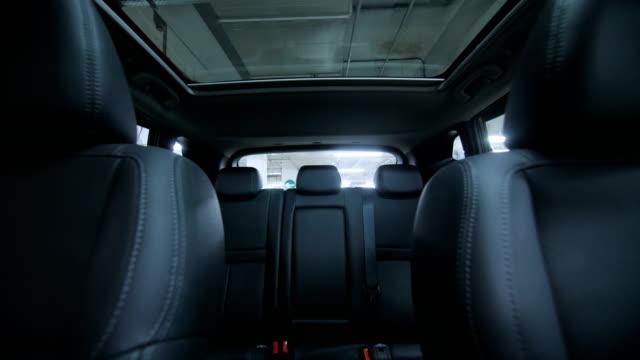 Generic empty car interior. Track forward shot video