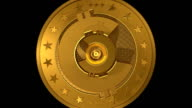 Generic Gold CryptoCurrency Coin Build with Alpha Channel video