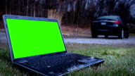 Generic laptop screen for action movie screen replacement - filler shot video