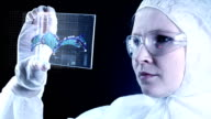 Genetic research in chemical laboratory. video
