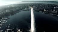 Geneva cityscape view from sky video