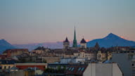 Geneva skyline timelapse video