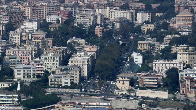 Genoa From the Sea  - Aerial View - Liguria, Italy video