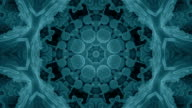 Gentle Seamless Blue Fractal Kaleidoscope Background from Bacteria video