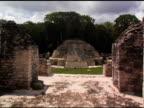 Gentle zoom atop Mayan Ruins video
