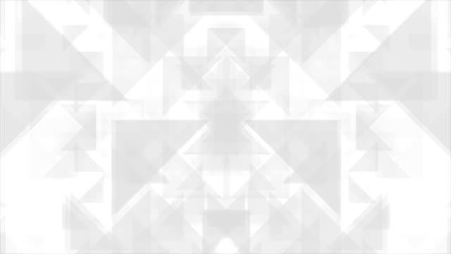 Geometric grey polygon shapes video animation video