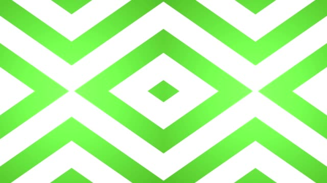 geometric loop abstract diamonds green and white video