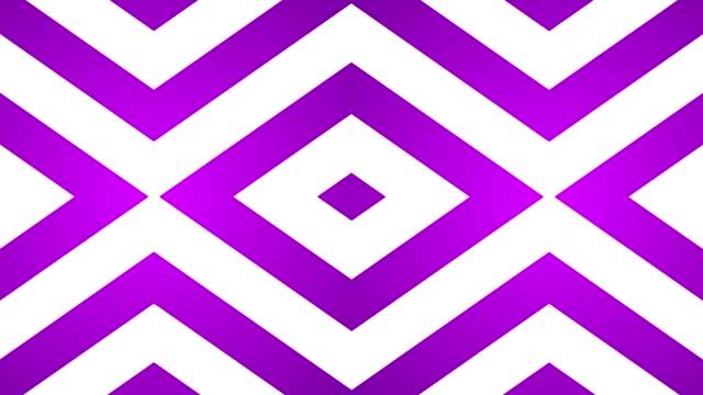 geometric loop abstract diamonds purple and white video