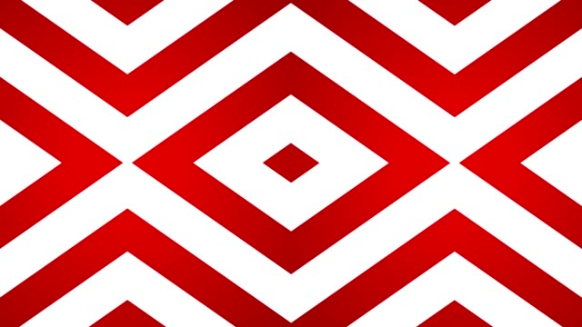 geometric loop abstract diamonds red and white video