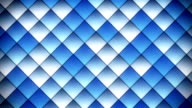 geometric pattern of blue squares loop video