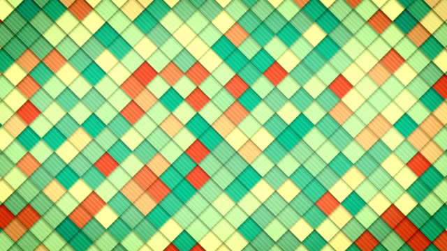 geometric pattern of colorful squares loop video