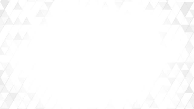 geometric pattern of white triangles loop video