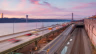 George Washington Bridge Day To Night Timelapse video