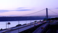 George Washington Bridge & West Side Hwy Timelapse video