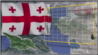 Georgia flag and map animation video