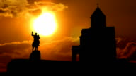 Georgia Metekhi Temple sungliding video