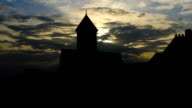 Georgia Sioni Cathedral golden sunset video
