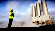 Geothermal Engineer Recording Data video