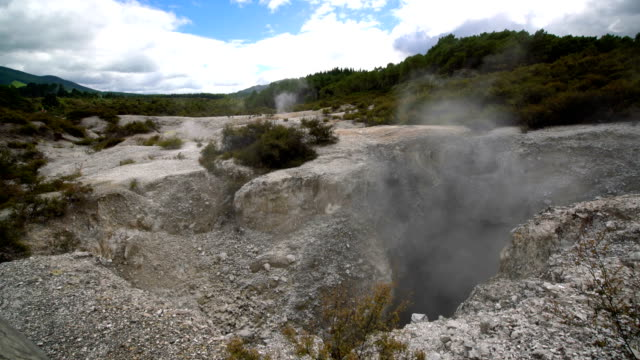 Geothermal Pool at the Wai-O-Tapu Geothermal Wonderland, Rotorua, New Zealand video