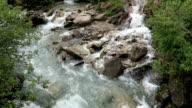 Gerlos stream flowing though the Wild-Gerlostal valley in Tirol/ Austria. Zillertal, video