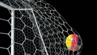 German Ball Scores in Slow Motion with Alpha Channel video