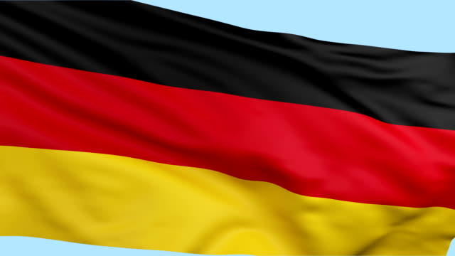 German flag waving loopable background video