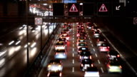 German Motorway - Traffic at night video