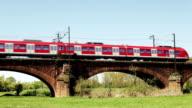 German S-Bahn train video