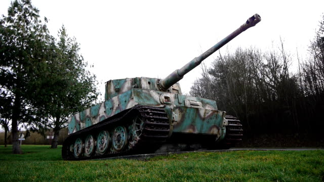 German tiger tank in Normandy France video