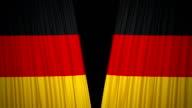 Germany Flag Curtain cloth video