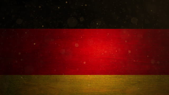 Germany Flag - Grunge. 4k video
