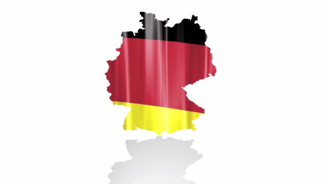 Germany flag isolated video