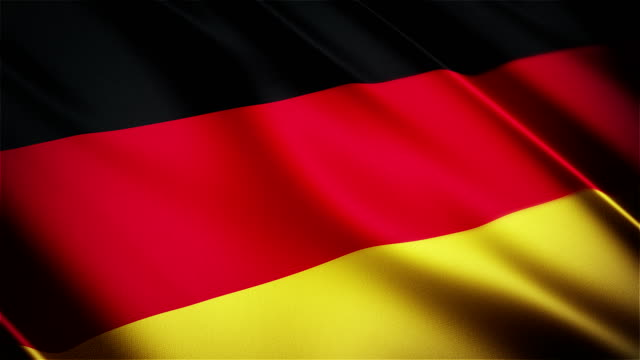 Germany realistic national flag seamless looped waving animation video