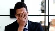 Gesture of Failure, Upset Black Businessman video