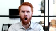 Gesture of Shock, Unexpected Surprise For Man in Beard video