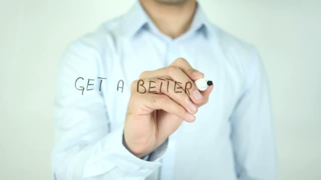 Get a Better Job, Writing On Transparent Screen video
