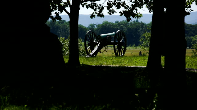 Gettysburg Cannon pan video