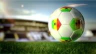 Ghanaian Ball Turn At Stadium - Loopable video