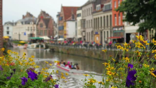 Ghent city view, Belgium video