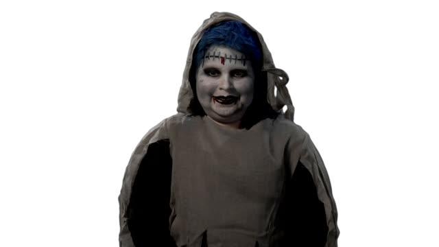 HD Ghost Kid Trick-or-Treating video