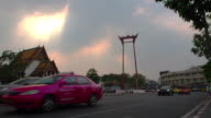 Giant Swing ( Sao Ching Cha) at sunset. video