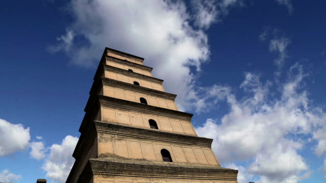 Giant Wild Goose Pagoda or Big Wild Goose Pagoda, is a Buddhist pagoda located in southern Xian (Sian, Xi'an),Shaanxi province, China video