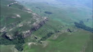 Giant's Castle Nature Reserve - Aerial View - KwaZulu-Natal,  South Africa video