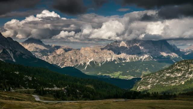 Giau Pass European alps mountain range , Time Lapse , dolomites south tyrol Italy video
