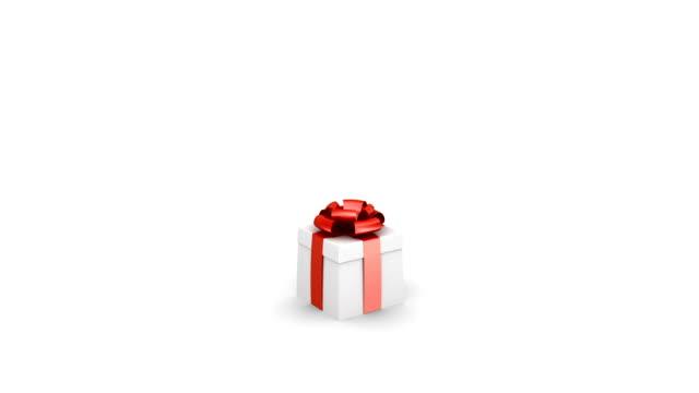 Gift box. video