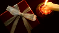 Gift box with candle video