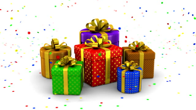 Gift Boxes Animation video