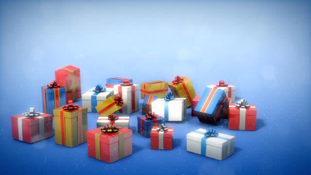 Gift boxes video