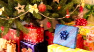 gifts and christmas tree video