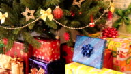 gifts under christmas tree video